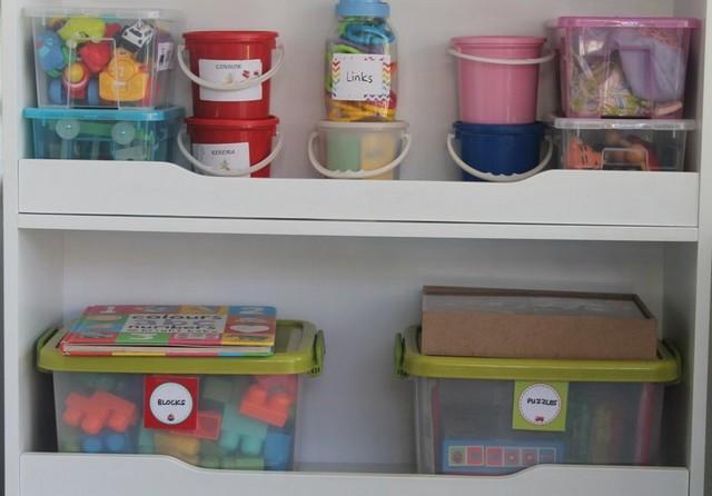 organised toy storage