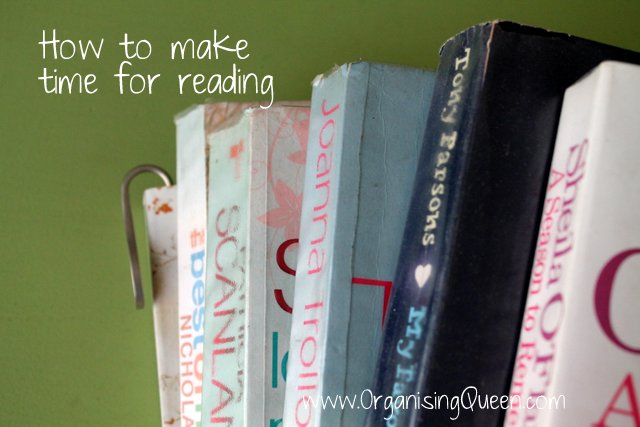 Make time for reading | www.OrganisingQueen.com