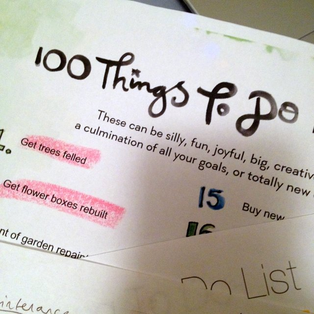 100 things to do list |www. OrganisingQueen.com