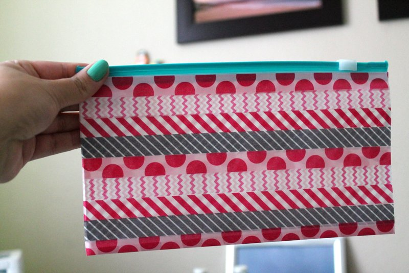 Washi tape pencil bags | www.OrganisingQueen.com