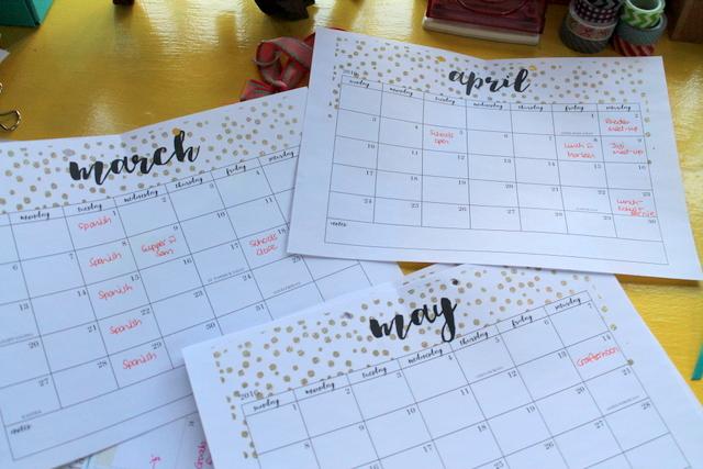 monthly calendaring | www.OrganisingQueen.com