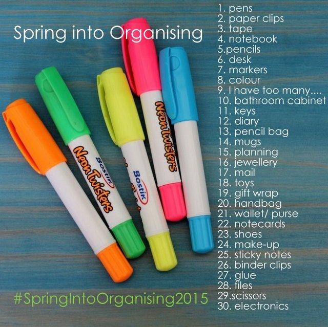 Spring into organising
