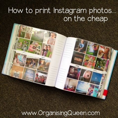 How to print from Instagram | www.organisingqueen.com